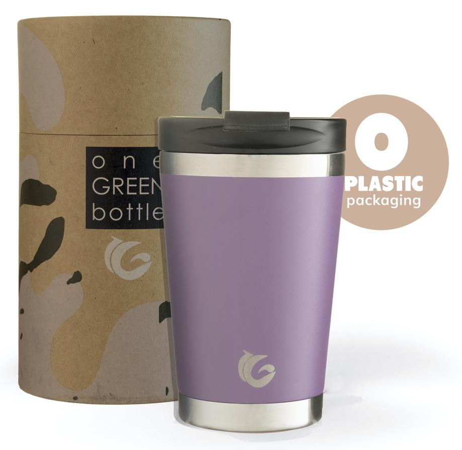 one green bottle stainless steel travel mug